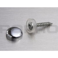 CACHE VIS PLASTIQUE Ø16MM METALLISE CHROME BRILLANT