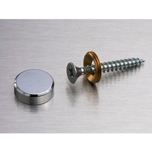 CACHE VIS CHANFREINE Ø18MM CHROME