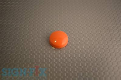 CACHE VIS PLASTIQUE Ø16MM OLGA ORANGE BRILLANT