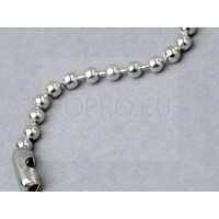 CHAINETTE BOULE METAL NICKELE BRILLANT Ø 2.4MM. LONGUEUR 100MM.