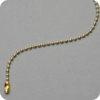 CHAINETTE BOULE METAL LAITON BRILLANT Ø 2.4MM. LONGUEUR 100MM.